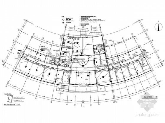 某中心医院康复中心及老干部病房楼电气施工图纸