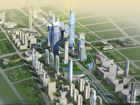 [南京]河西某新城中心区城市设计国际竞赛(某知名设计院)