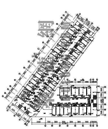 某七层宿舍楼给排水竣工图