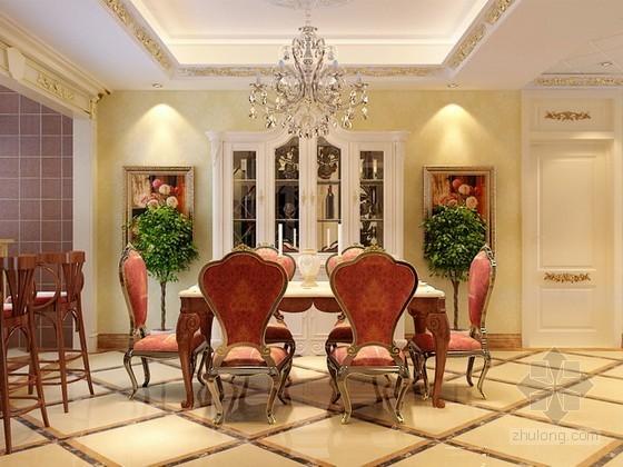 欧式古典餐厅3d模型下载