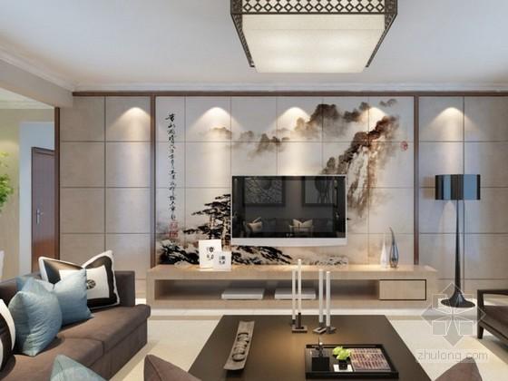 新中式风格家居3d模型下载