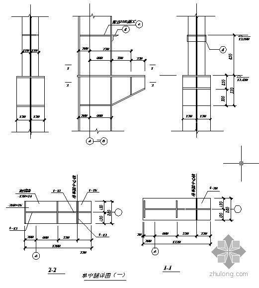 某钢结构厂房单牛腿节点构造详图