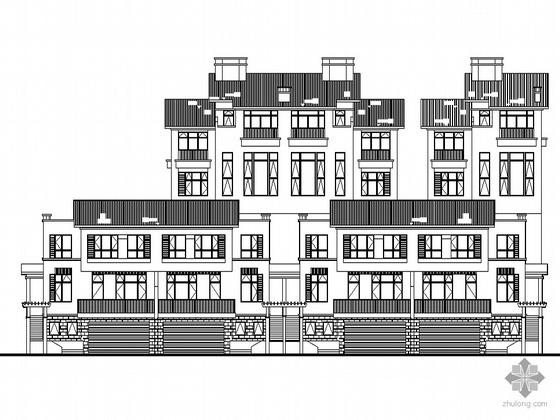[南京]某海岸项目叠院拼接别墅建筑施工图(D15型)