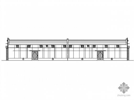 某中央储备粮直属库21米跨散装平房仓建筑施工图