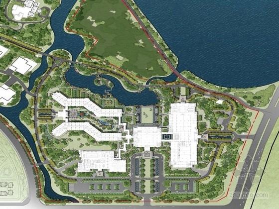 [宁夏]汉唐风格和赖特草原建筑风格宾馆公共区域景观设计方案