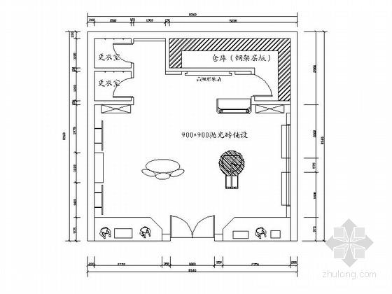 [浙江]迷你时尚小空间服装专卖店室内施工图(含效果图)