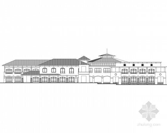 某别墅区二层豪华会所建筑方案图