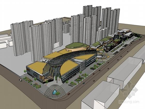 城市商业建筑SketchUp模型下载
