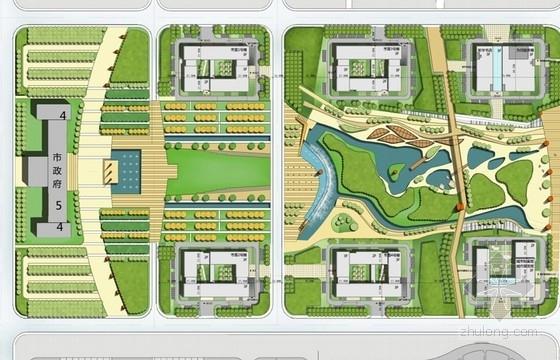 3层现代简约风格办公楼总平面图