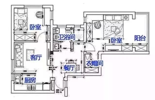 老房翻新装修效果图,小户型装修装出两室两厅鉴赏