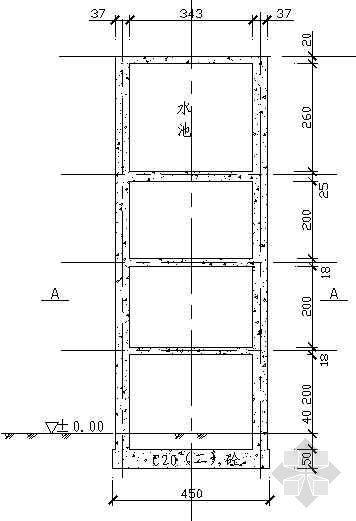 某生活营地水塔设计施工图