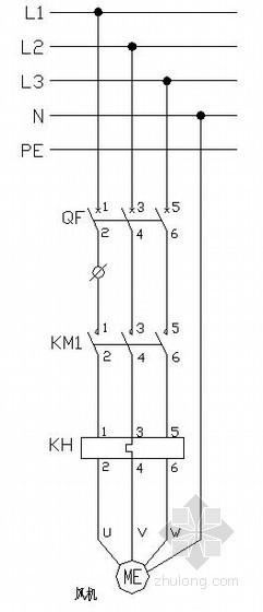 空调风柜控制原理图-空调自控系统图
