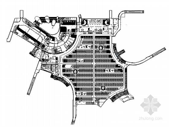 [苏州]大型地下停车场建筑施工图