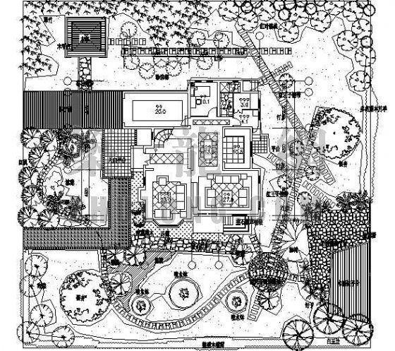 私家花园景观绿化设计图
