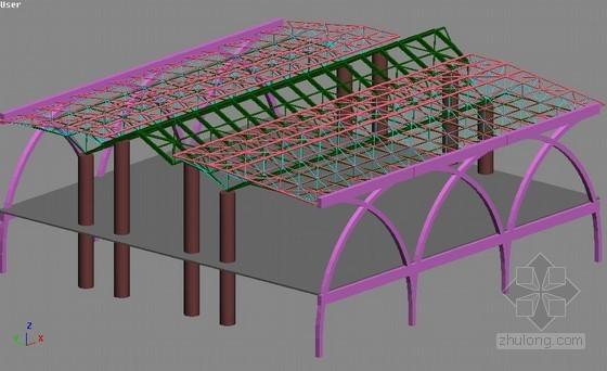 [宁夏]框剪结构站房施工组织设计(三维效果流程图)