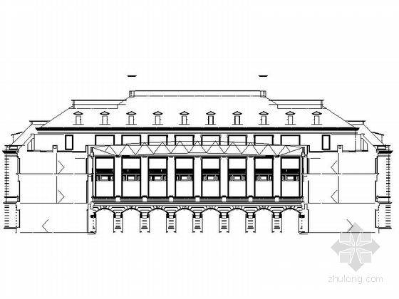 现代风格5层酒店式公寓立面图