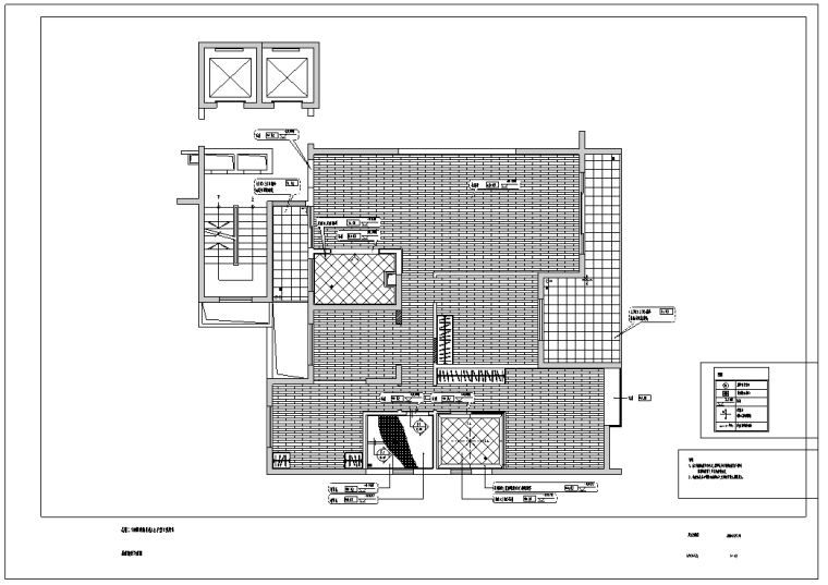 昆明二十四桥荷塘月色4B户型示范单位施工图.