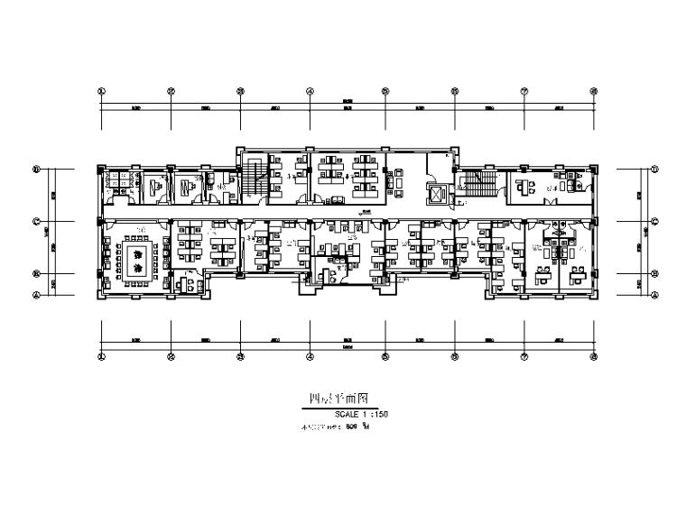 某公寓式办公楼设计CAD施工图