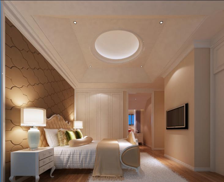 某中式建欧别墅室内装修设计施工图及效果图_9