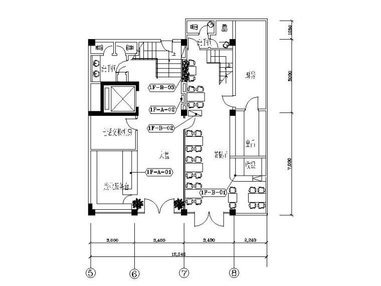 整套酒店套房设计CAD施工图