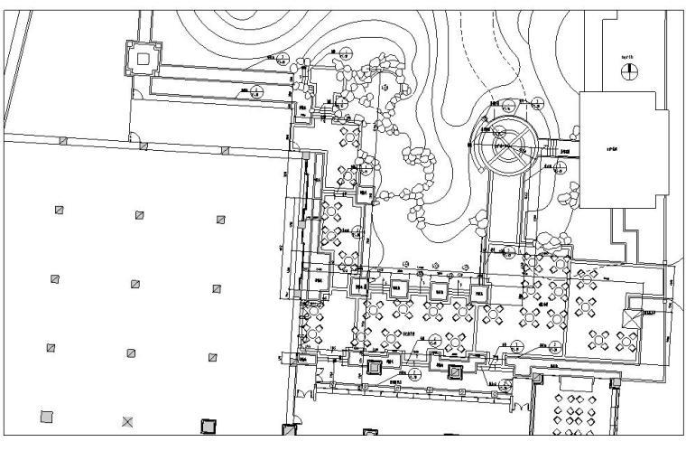 [北京]香格里拉饭店全套景观设计施工图(EDSA)