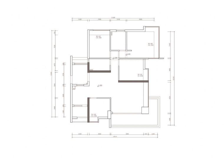 现代简约风格住宅室内设计施工图(含效果图)-住宅装修-土木资料网