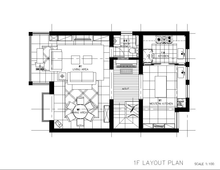 [上海]简约现代风格住宅设计施工图+效果图(JPG+CAD)81页