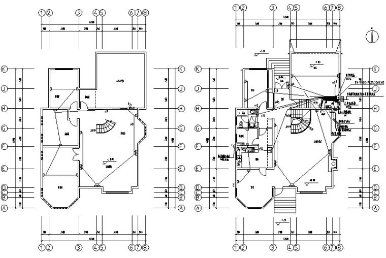 3层独立别墅照明设计图