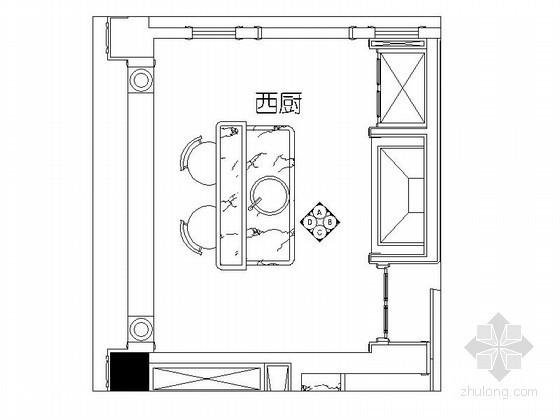 豪华住宅开放式西厨房设计装修图