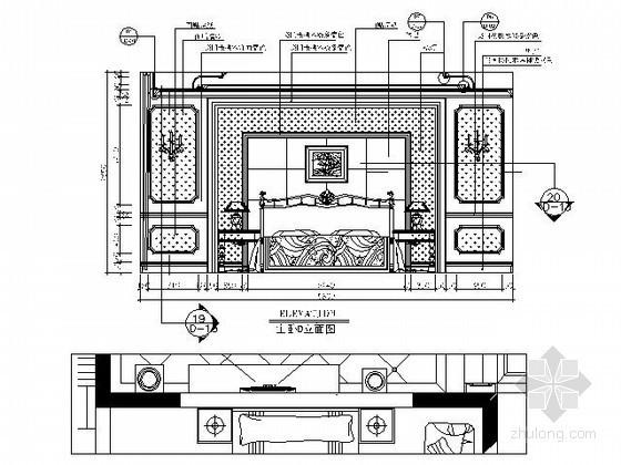 精装欧式客厅主立面图