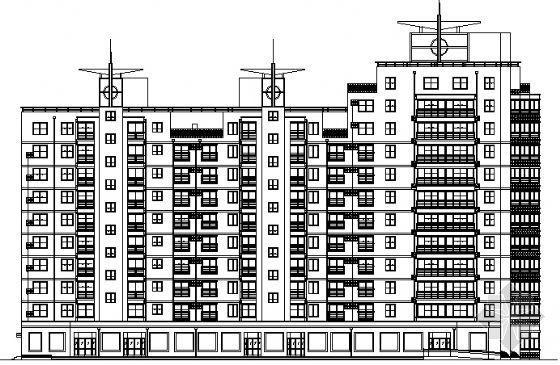 某十层层住宅楼建筑施工图