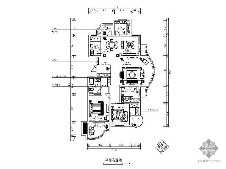 [诸暨]简欧风格四室两厅设计图纸(含效果)