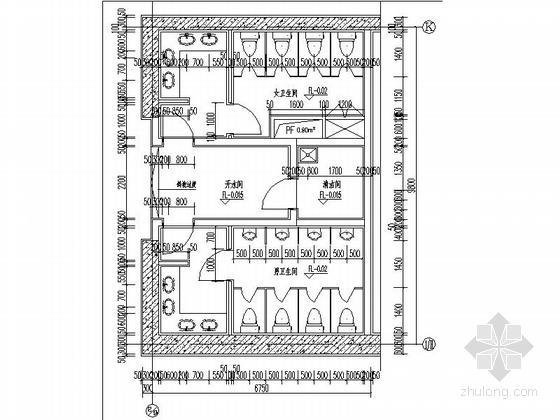 [天津]245米超高层玻璃幕墙金融大厦设计施工图-245米超高层玻璃幕墙金融大厦局部大样图