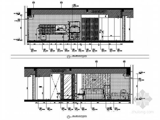 [四川]全球最大酒店客房电梯厅室内装修设计施工图(含方案效果)大床房立面图