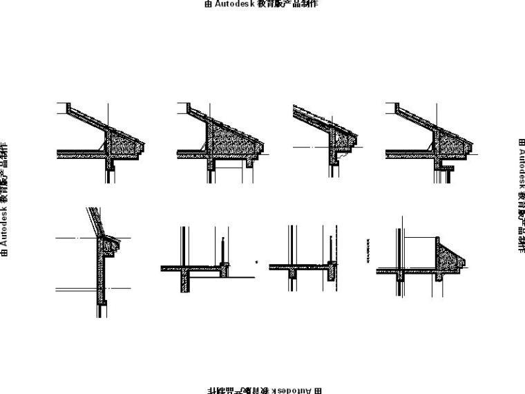 [内蒙古]高层对称式布局坡屋顶住宅楼建筑施工图-高层对称式布局坡屋顶住宅楼建筑