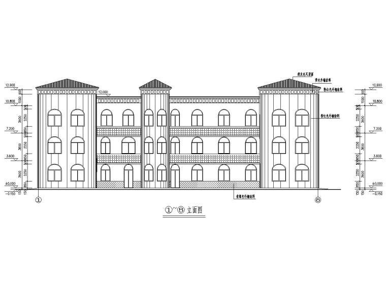 云海花园(灌云)幼儿园教学楼结构施工图