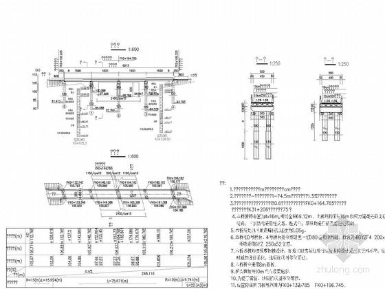 [湖北]4×16m先简支后连续预应力空心板桥施工图40张(天桥)
