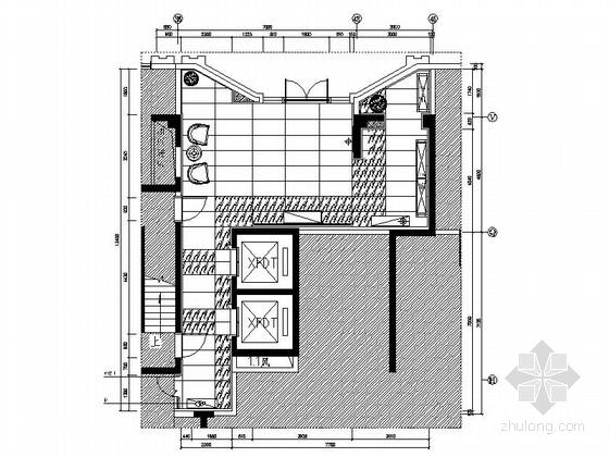 [郑州]奢华高档住宅区入户门厅及电梯间装修施工图(含效果)