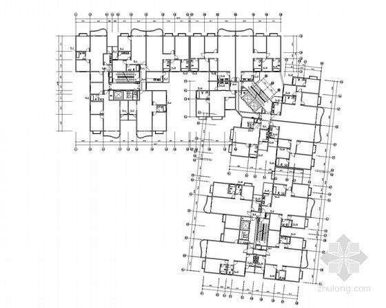 [贵州]一类高层商住楼给排水消防改造工程施工图(气体灭火)