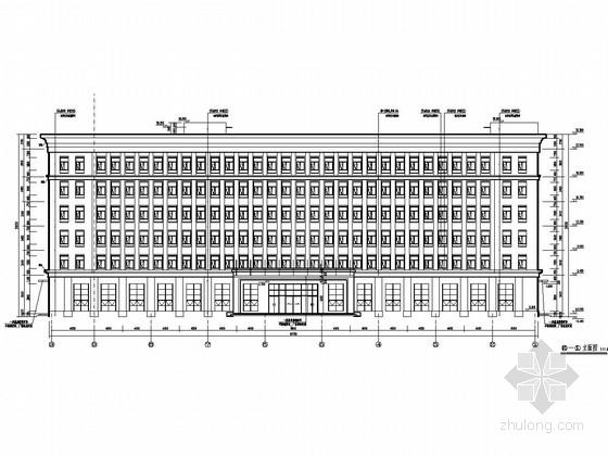 [北京]六层框架结构船舶公司综合办公楼结构施工图(含建筑图)