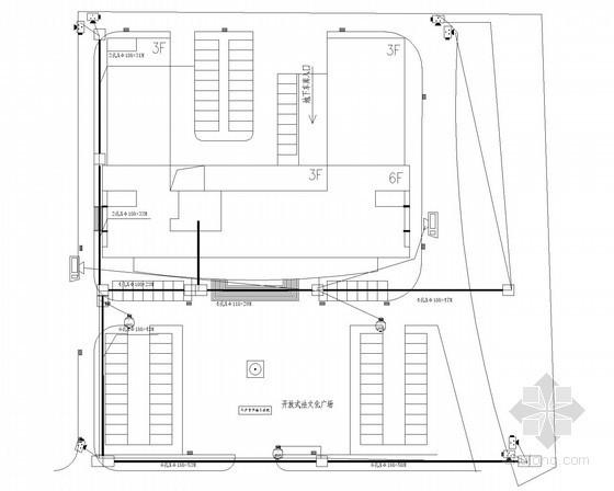 [湖南]法院弱电系统监控施工图纸