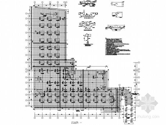 [长沙]12层框架办公楼结构施工图(蜂巢芯密肋楼盖)