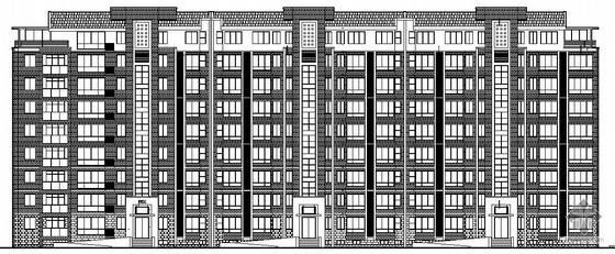 [威海市]某经济开放区内住宅花园小区二期八层住宅楼建筑施工套图(带地下车库及效果图)