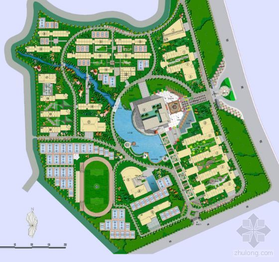 山东某大学景观设计方案全套