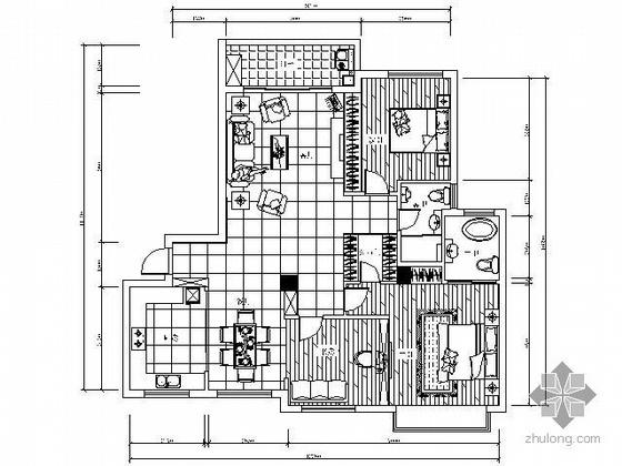三室二厅设计方案(含实景照)