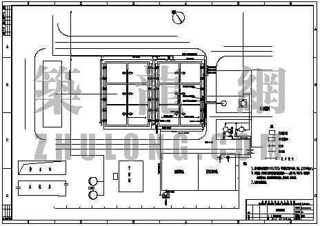uasb工艺图纸资料下载-uasb管道平面图