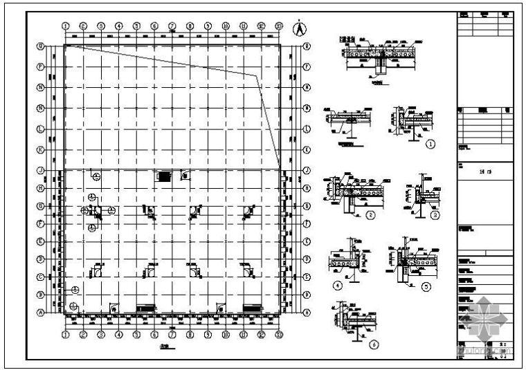 某钢结构混凝土楼板设计节点构造详图
