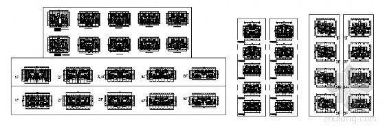 经济多层花园洋房户型图单体组合