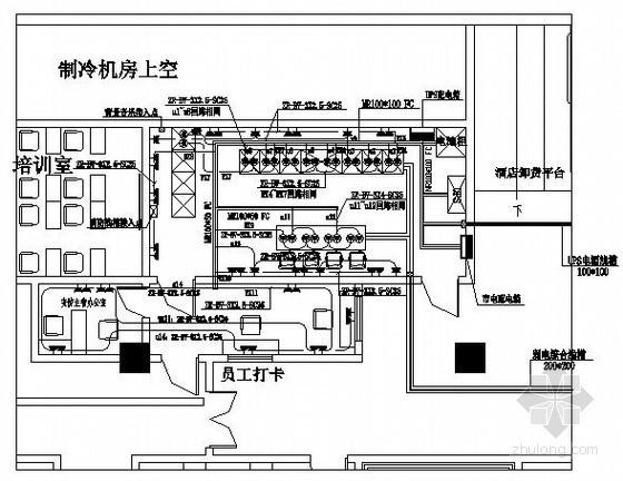 酒店中心机房电气施工图纸