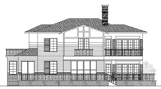 某二层钢结构别墅建筑方案图